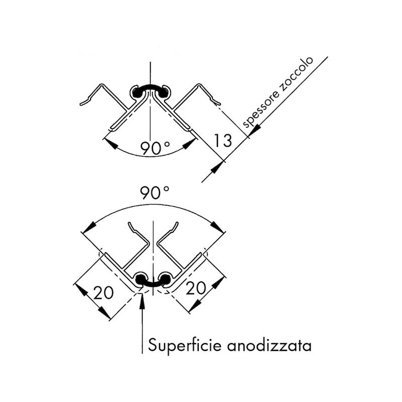 Angolare variabile per zoccolo - 2