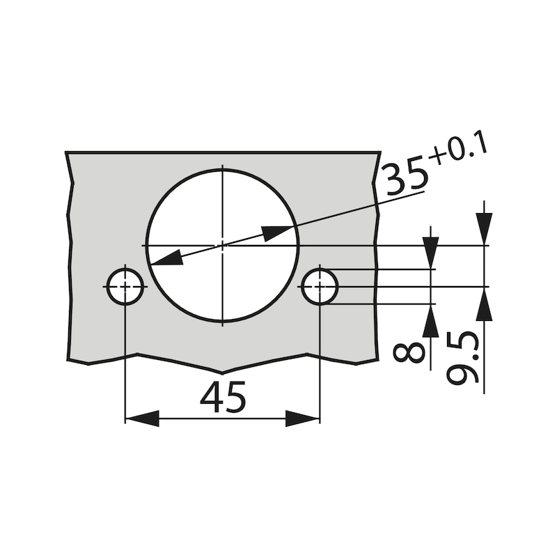 Concealed hinge, TIOMOS Impresso 110 - HNGE-TT-IMPRESS-110-GB-BP-C95