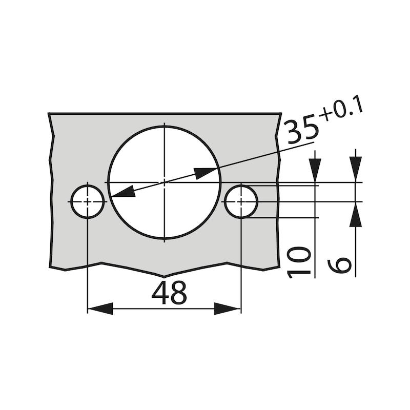 Concealed hinge, TIOMOS Impresso 110 - HNGE-TS-IMPRESS-110-HS-BP-C03