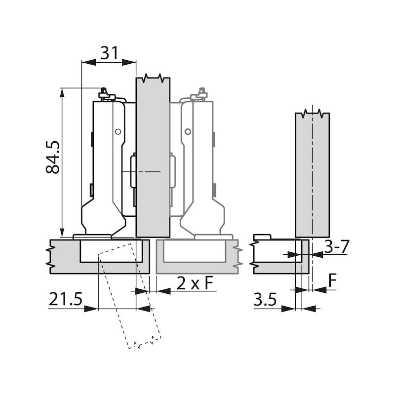 Topfscharnier TIOMOS Impresso 110 - SHAN-T-IMPRESSO-110-HS-BB-K95