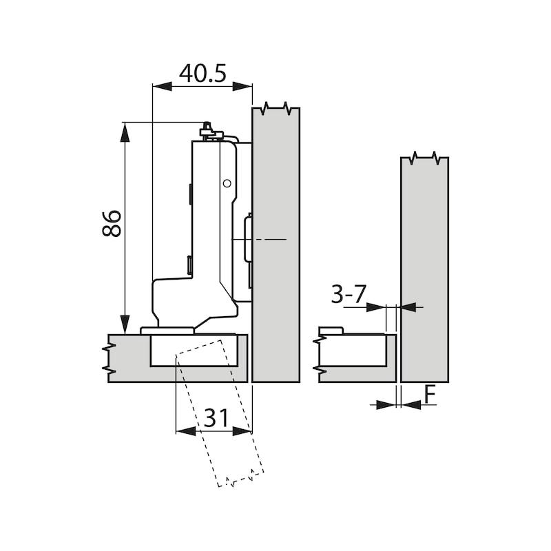 Concealed hinge, TIOMOS Impresso 110 - HNGE-TT-IMPRESS-110-GB-BP-C19