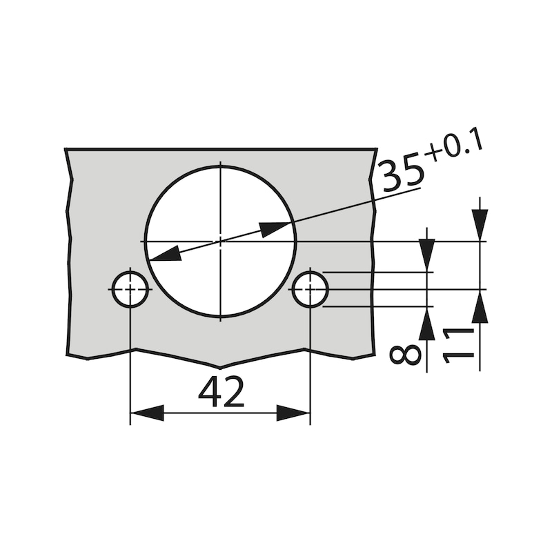 Topfscharnier TIOMOS Impresso 160 - SHAN-T-IMPRESSO-160-GB-BB-K95
