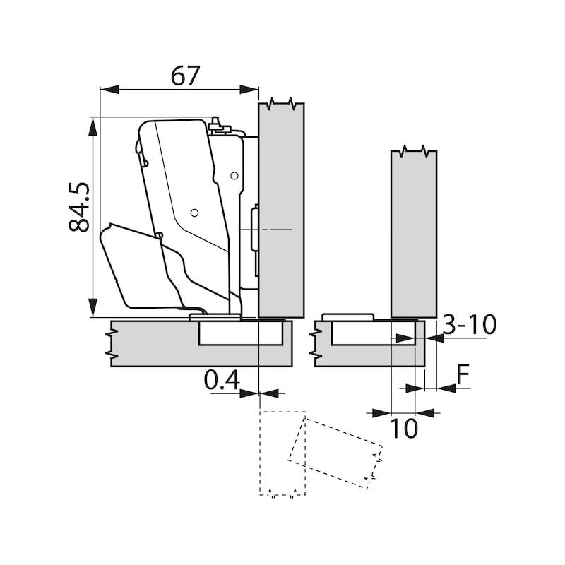 Topfscharnier TIOMOS Impresso 160 - SHAN-T-IMPRESSO-160-GB-BB-K03