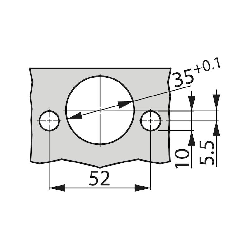 Concealed hinge, TIOMOS Impresso 110/45 E - HNGE-T-IMPRESSO-110-45-HS-BB-INRT