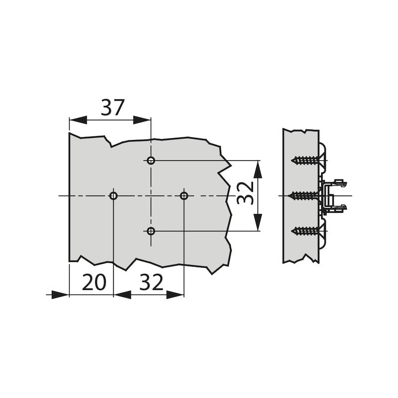 Kreuzmontageplatte TIOMOS 1D - ZB-KRZMNTGPL-TIOMOS-1D-H00