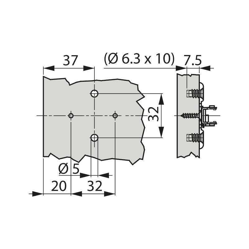 Cross mounting plate TIOMOS 1D - AY-CRSMNTPLT-TIOMOS-1D-H00-EURO-10