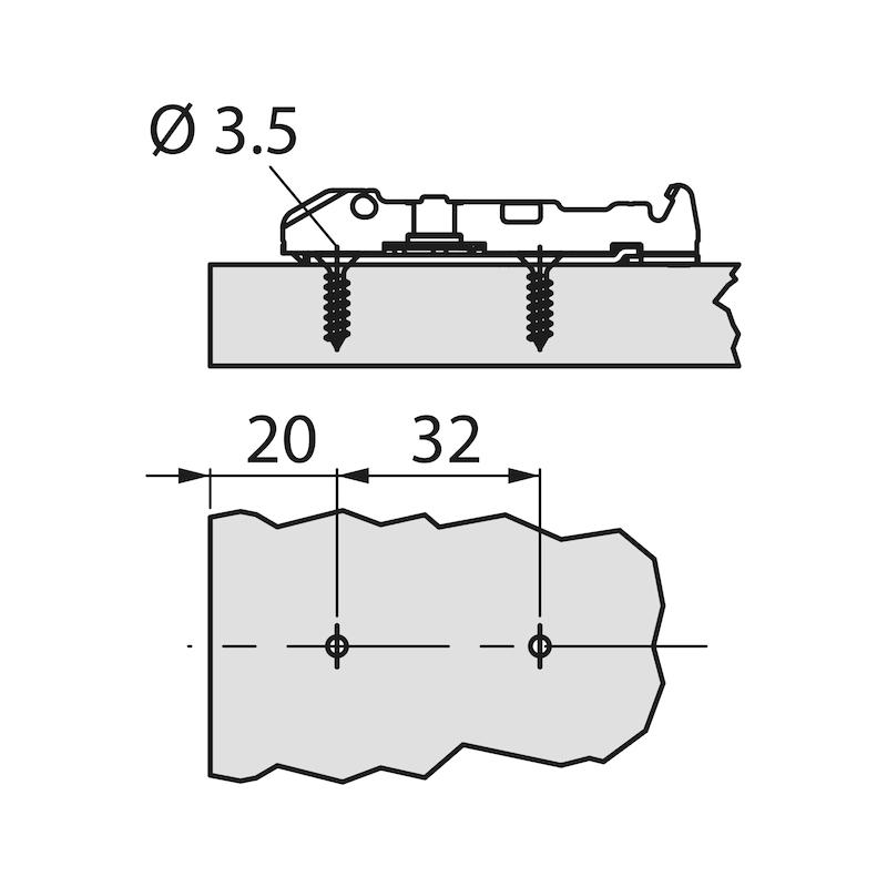 Plaque de montage linéaire 1D  Ancrage TIOMOS - 2