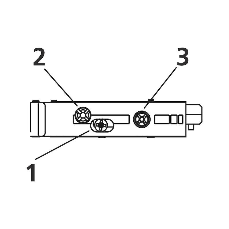Plaque de montage linéaire 1D  Ancrage TIOMOS - 3
