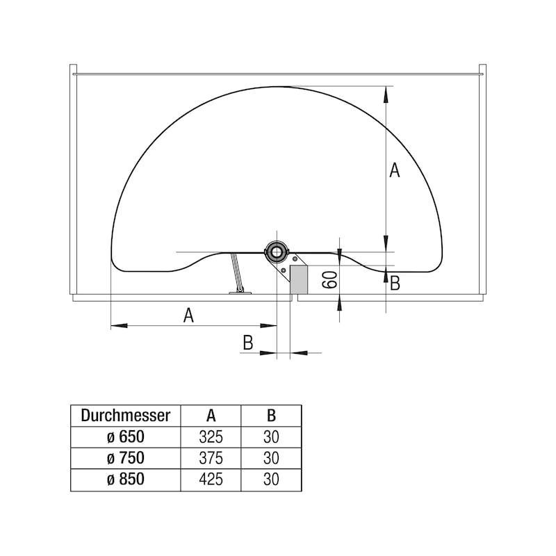 Eckschrank-Schwenkbeschlag VS COR Wheel - 4