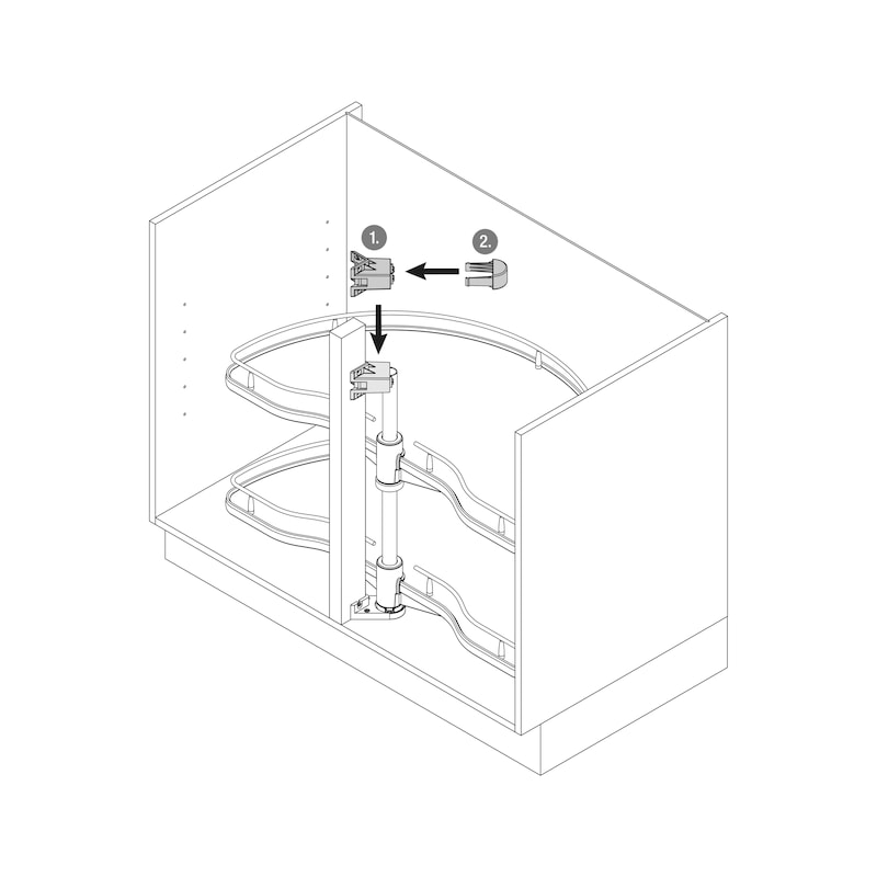 Eckschrank-Schwenkbeschlag VS COR Wheel - 3