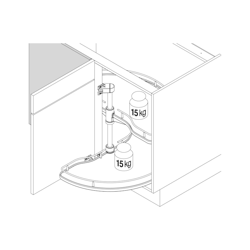 Eckschrank-Schwenkbeschlag VS COR Wheel - 2
