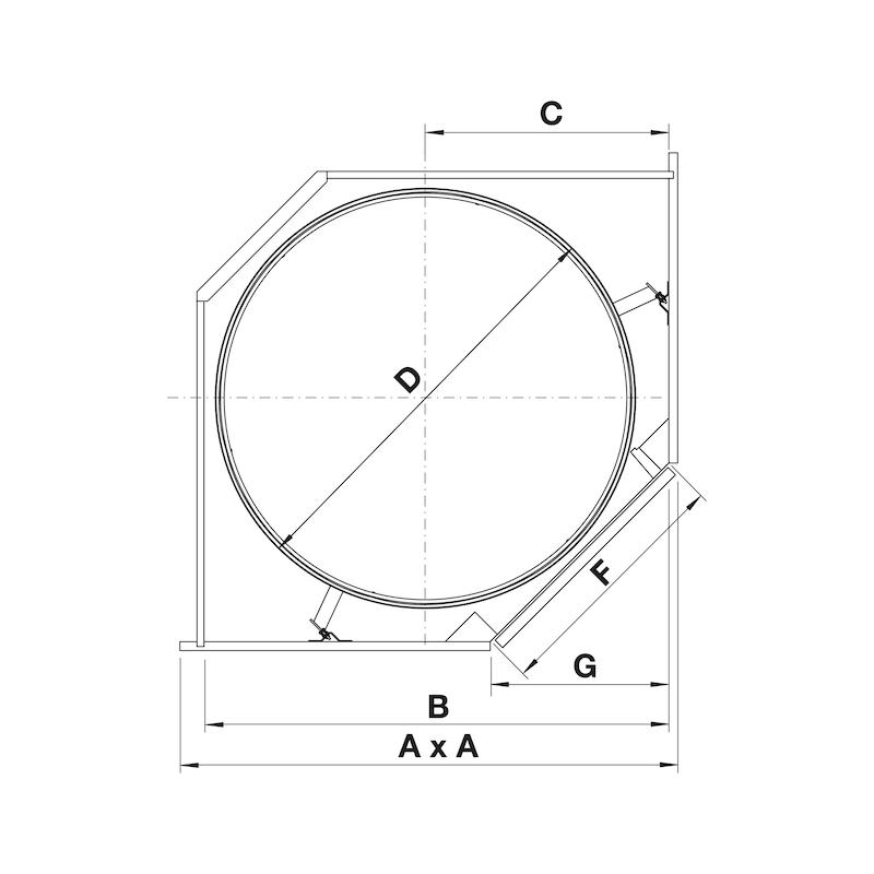 Eckschrank-Drehbeschlag VS COR Wheel Pro - 2
