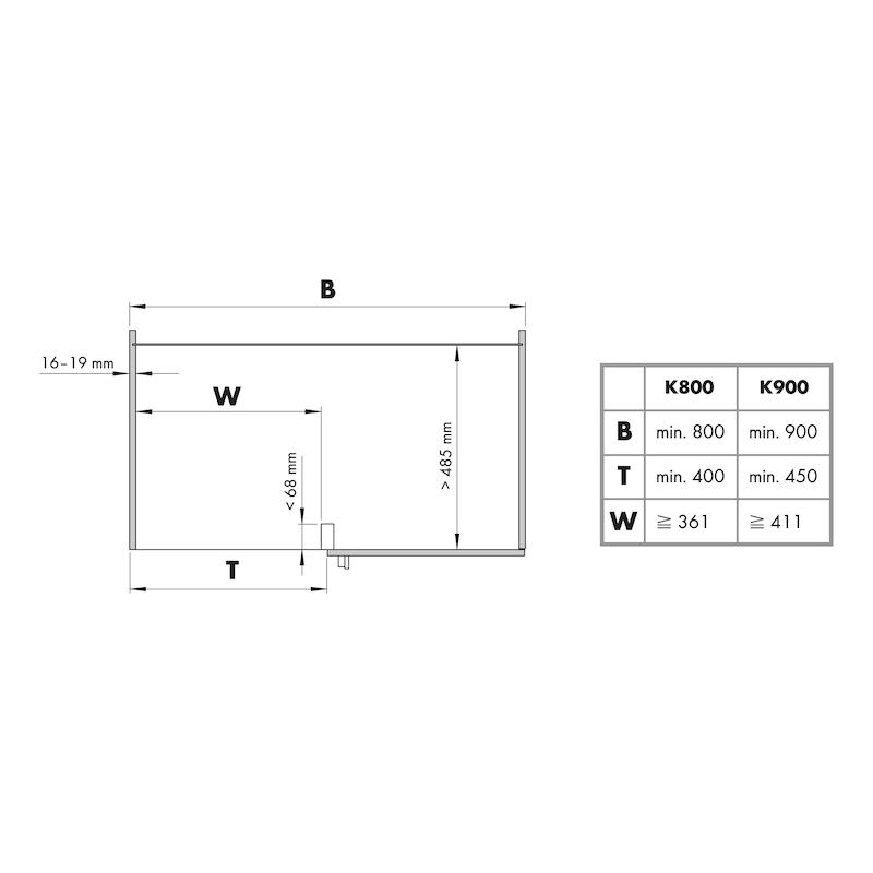 Eckschrank-Schwenkbeschlag VS COR FOLD  - 2