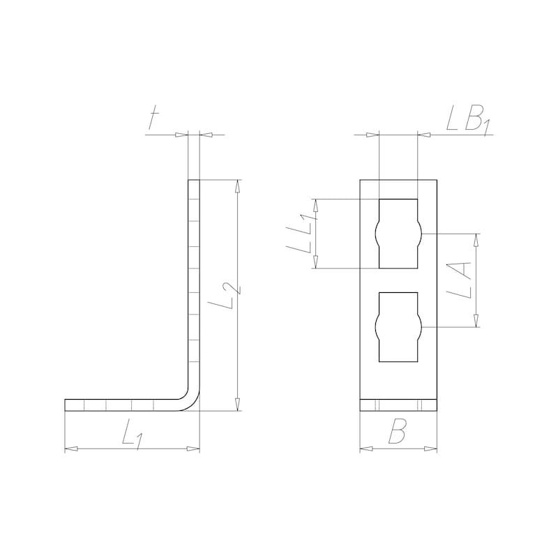 VARIFIX<SUP>®</SUP>-Anschlusswinkel für Powerknopf System 41 - 2