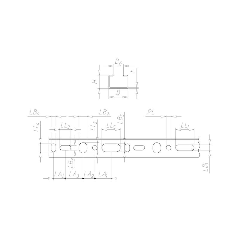 VARIFIX<SUP>® </SUP>C-Montageschiene 26/18 - C2C - 2
