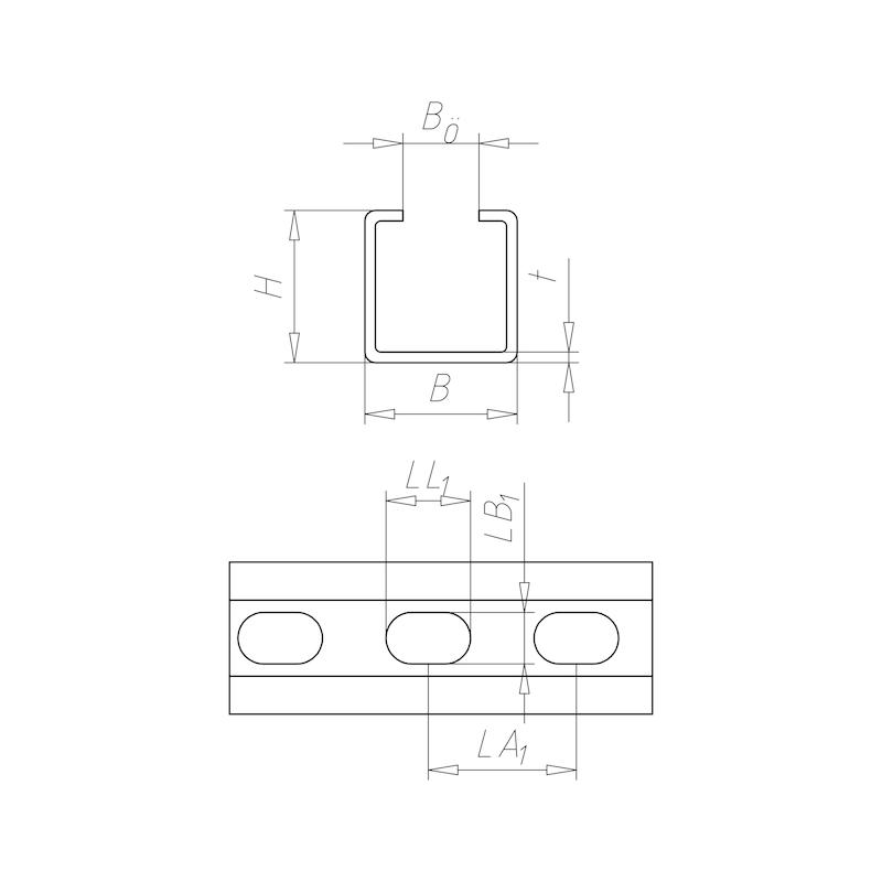 VARIFIX<SUP>® </SUP>C-Montageschiene 36/36 - 2