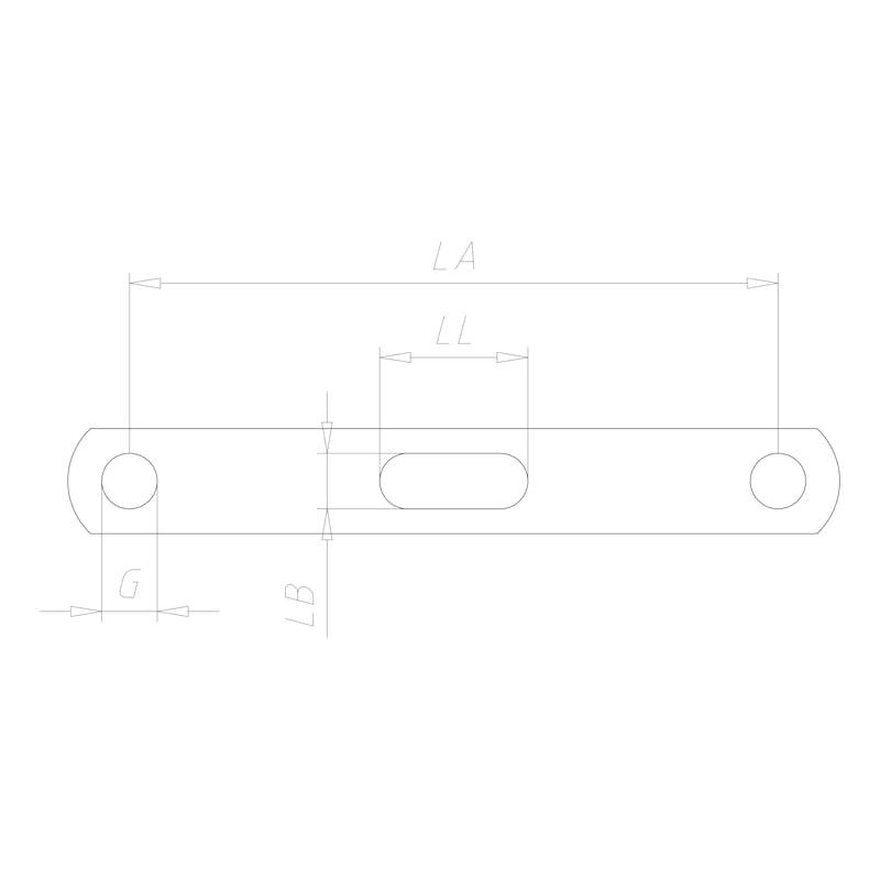 Doppelhalter - DPHALT-M8X85