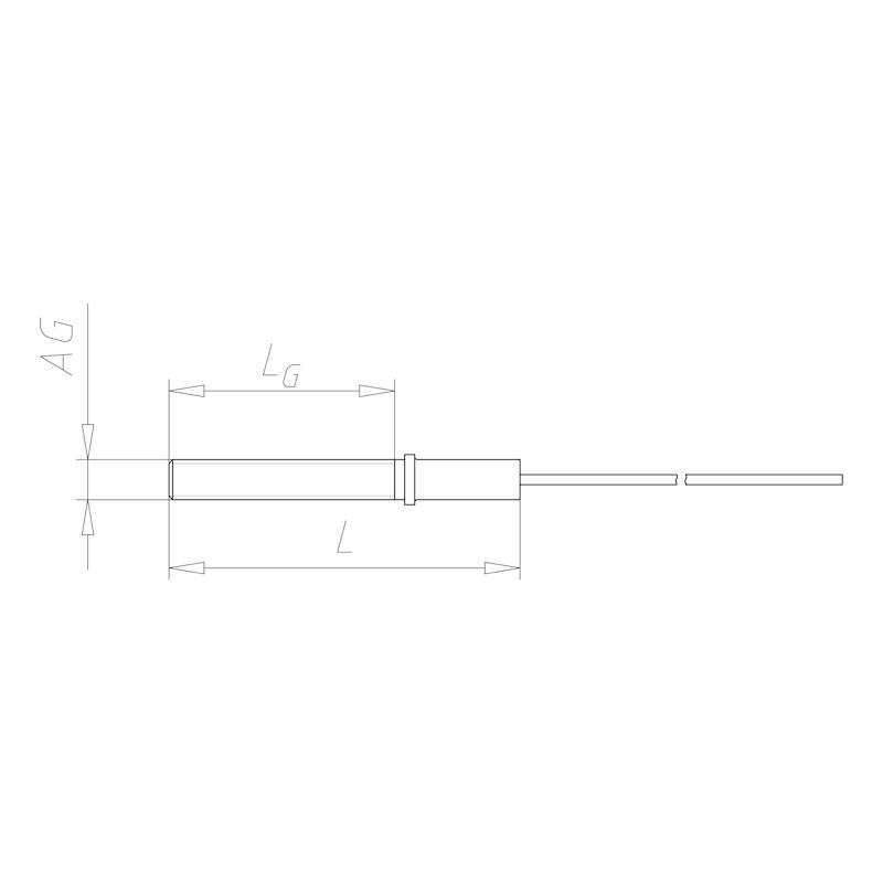 Embout de câble métallique avec filetage mâle M8 - C2C - CABLE Ø2 MM EMBOUT FILETE M8 LGR 1 M