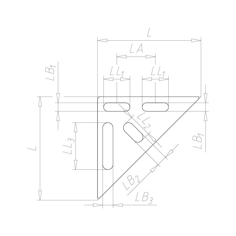 VARIFIX<SUP>®</SUP> Dreieckslasche - 3ECKLA-A4-PRFL26/28