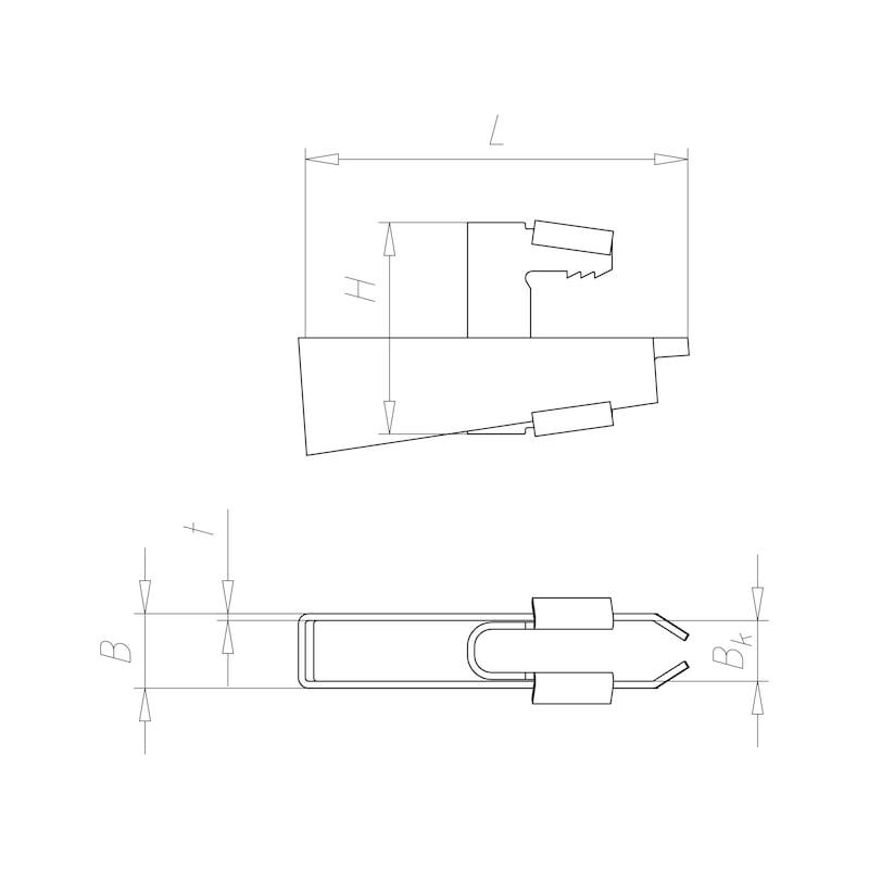 Crampon de fixation à frapper Varifix<SUP>®</SUP> - CRAMPON DE FIXATION A ENFONCER M6/M8
