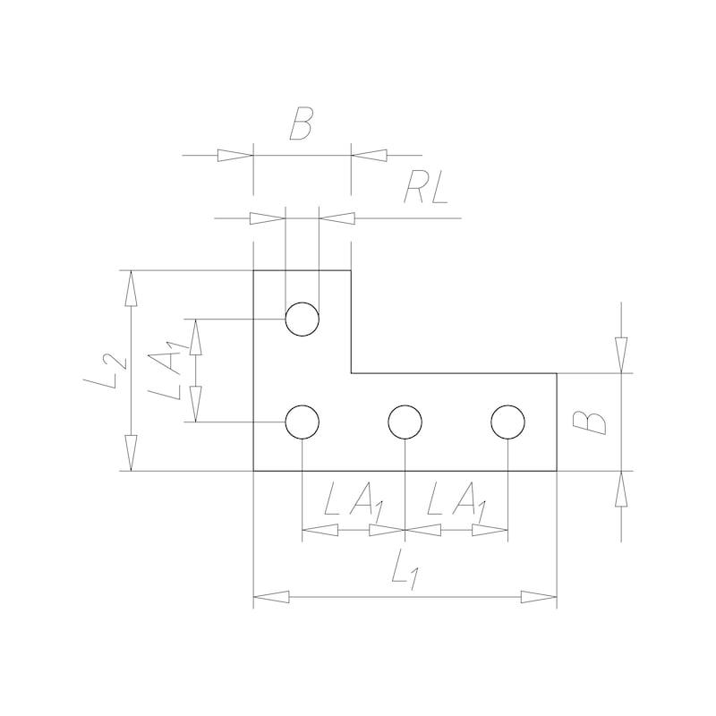 VARIFIX<SUP>® </SUP>Flachverbinder L-Form - 2