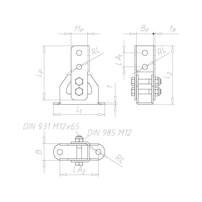 Raccord de charnière verrouillable VARIFIX<SUP>®</SUP> - C2C - 2