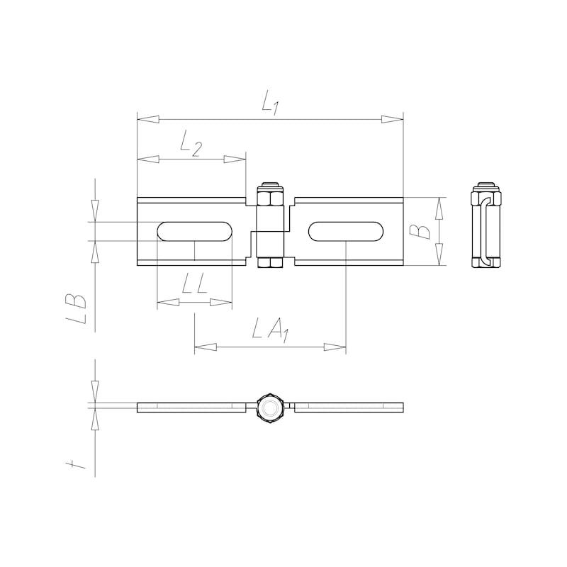 VARIFIX<SUP>®</SUP>-Gelenkverbinder flach Langloch - C2C - 2