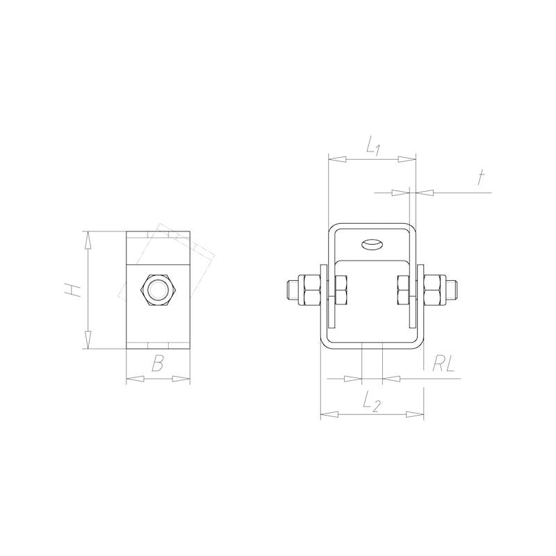 VARIFIX<SUP>®</SUP>-Gelenkverbinder Vario - GLKVERB-VARIO-41-TZN-M12
