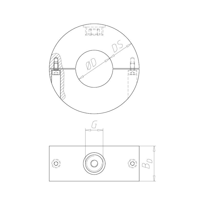 Kälterohrschelle PUR 250 Typ 175 - KAELTROSHEL-PUR250-TYP175-30X18MM
