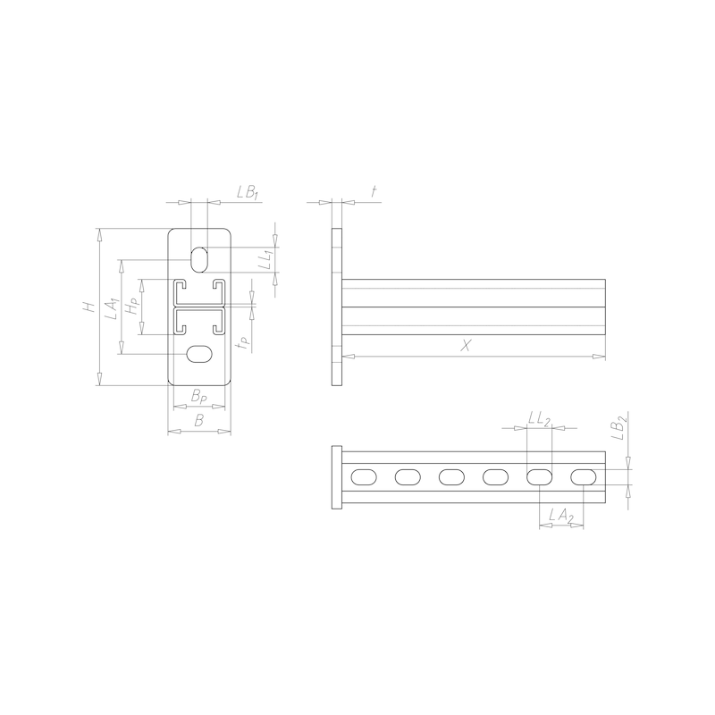 VARIFIX<SUP>® </SUP>Konsole 41/22 D - C2C - 2