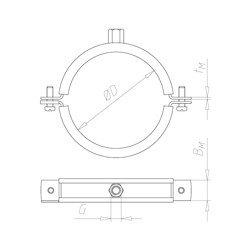 Collier pour gaines de ventilation Tipp<SUP>®</SUP> Aero - C2C - 3