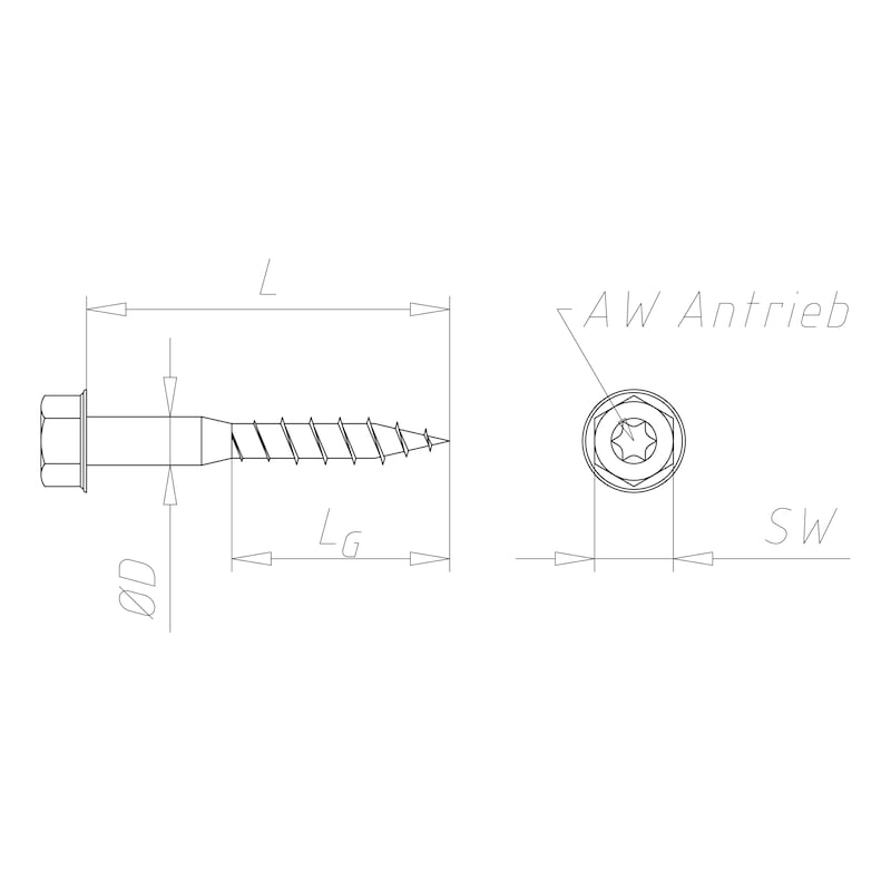 Laschenschraube - C2C - LASHR-AW30-8X80