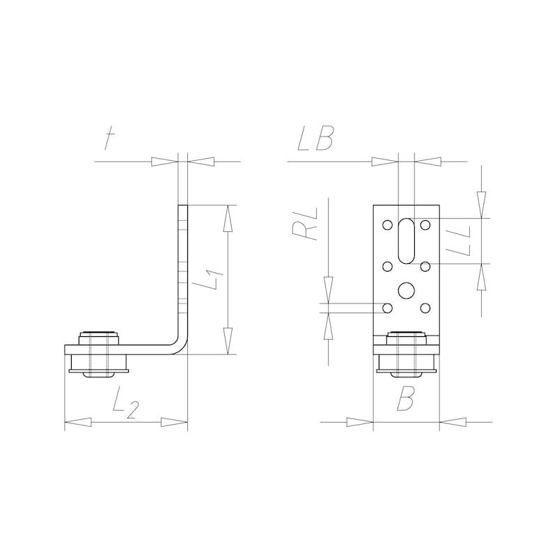 VARIFIX<SUP>®</SUP> Luftkanal-Montagewinkel Form L - C2C - 2