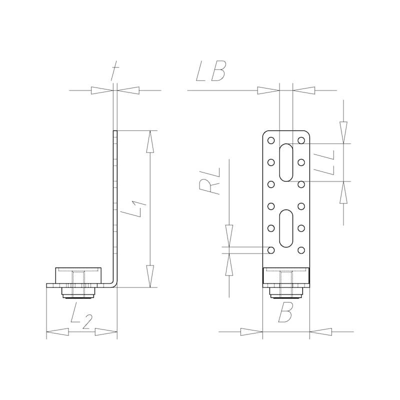 VARIFIX<SUP>® </SUP>Luftkanal-Montagewinkel Form L - 2