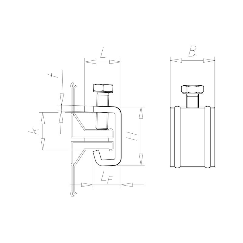Collier pour conduit de ventilation - C2C - 2