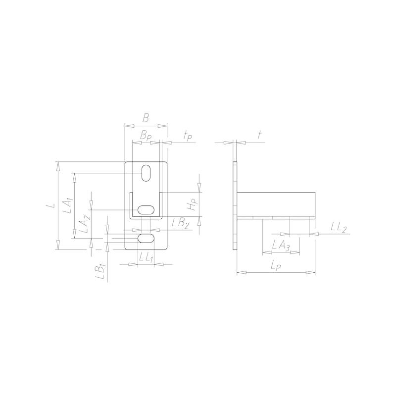 VARIFIX<SUP>® </SUP>Profilfuß - PRFLFU-(TZN)-PRFL41