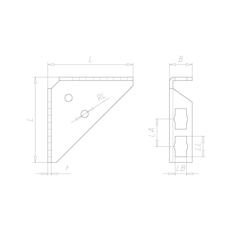 VARIFIX<SUP>®</SUP>-Rahmenwinkel für Powerknopf System 41 - RAHMWNKL-PRFL41-POWERKNOPF