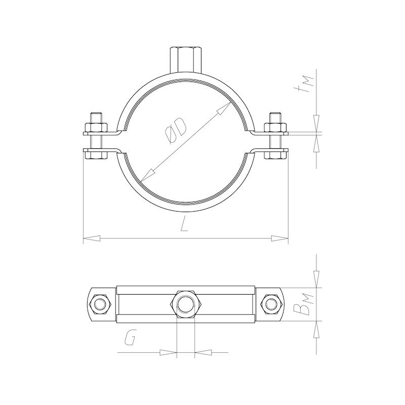 Rohrschelle TIPP<SUP>®</SUP>-Massiv - C2C - 2