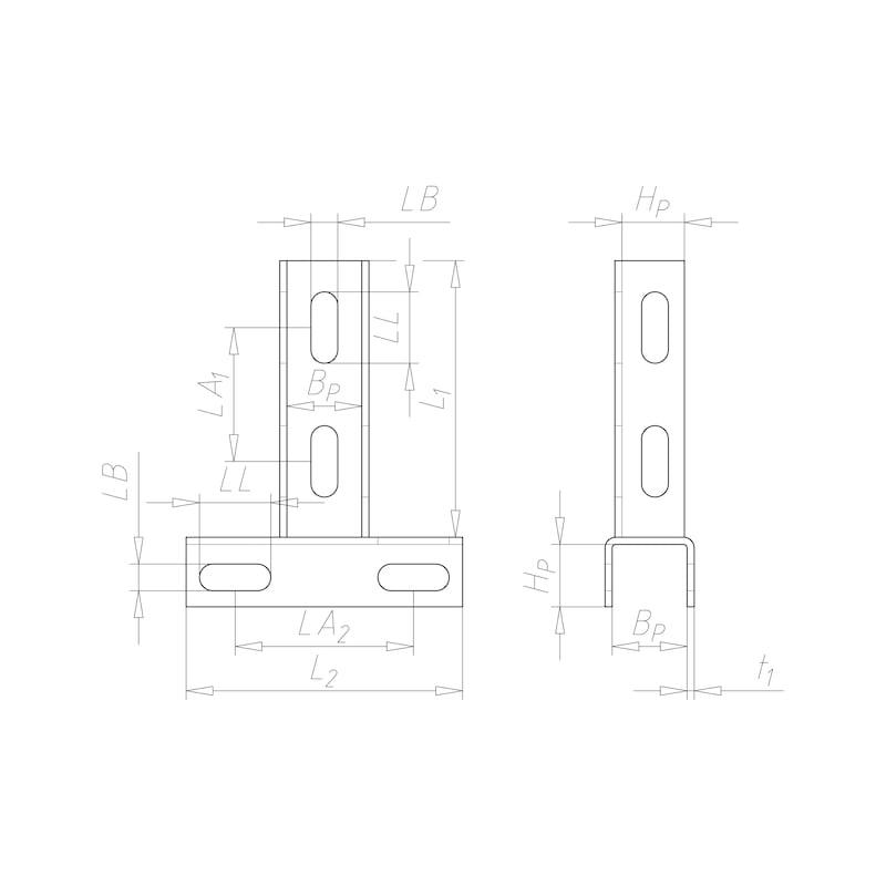 VARIFIX<SUP>® </SUP>Schienenverbinder T-Form - C2C - 2