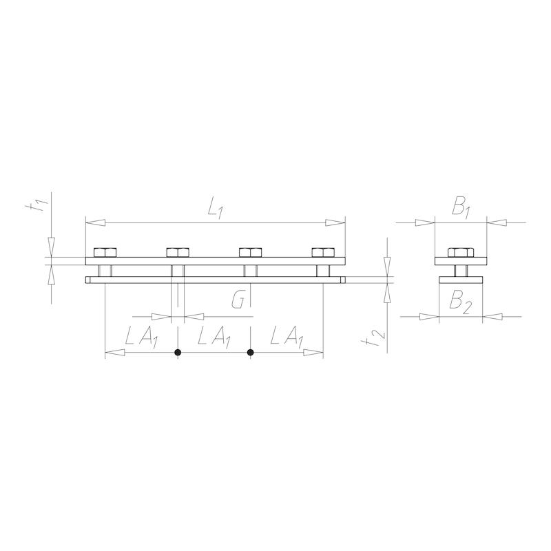 VARIFIX<SUP>® </SUP>Schienenverbinder vormontiert - FLVERB-PRFL26/28-VMNT
