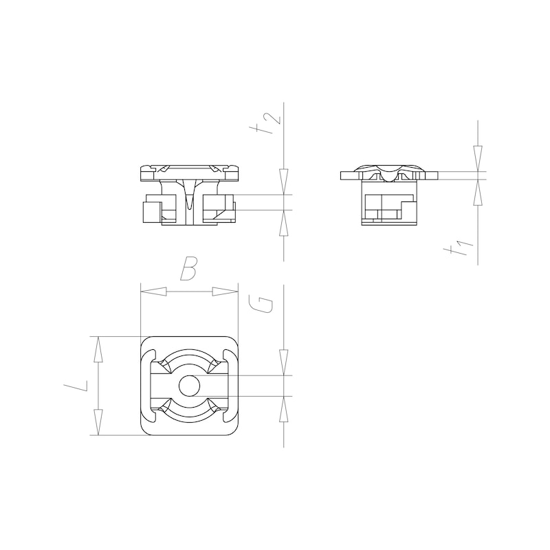 VARIFIX<SUP>® </SUP>quick fastener Systemfix 41 - C2C - 2
