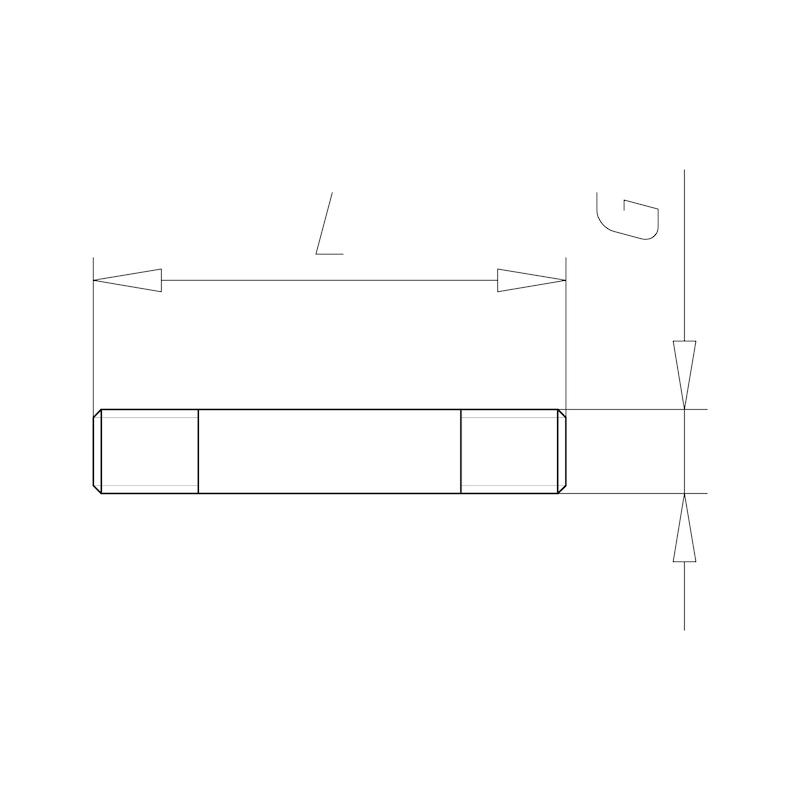 Schraubbolzen mit Schaft - C2C - 1