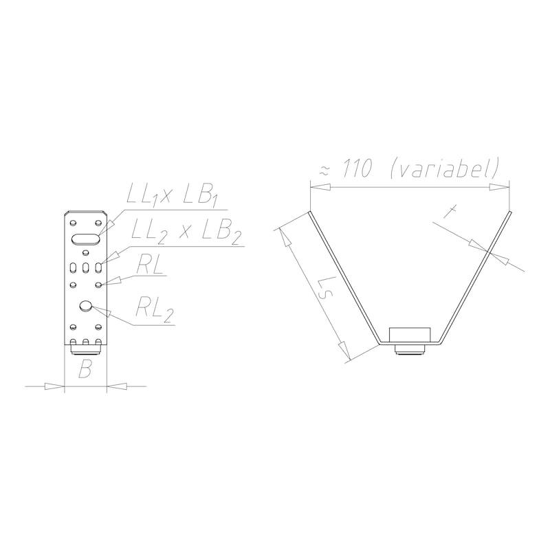 Trapezbefestiger - C2C - 2