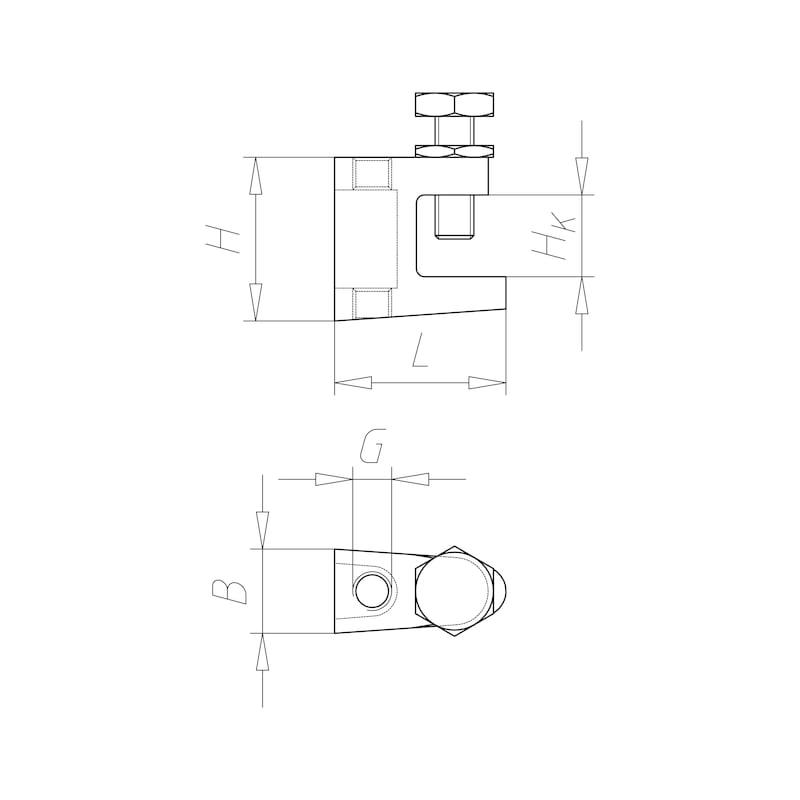 VARIFIX<SUP>®</SUP> Trägerklammer Standard - C2C - 2
