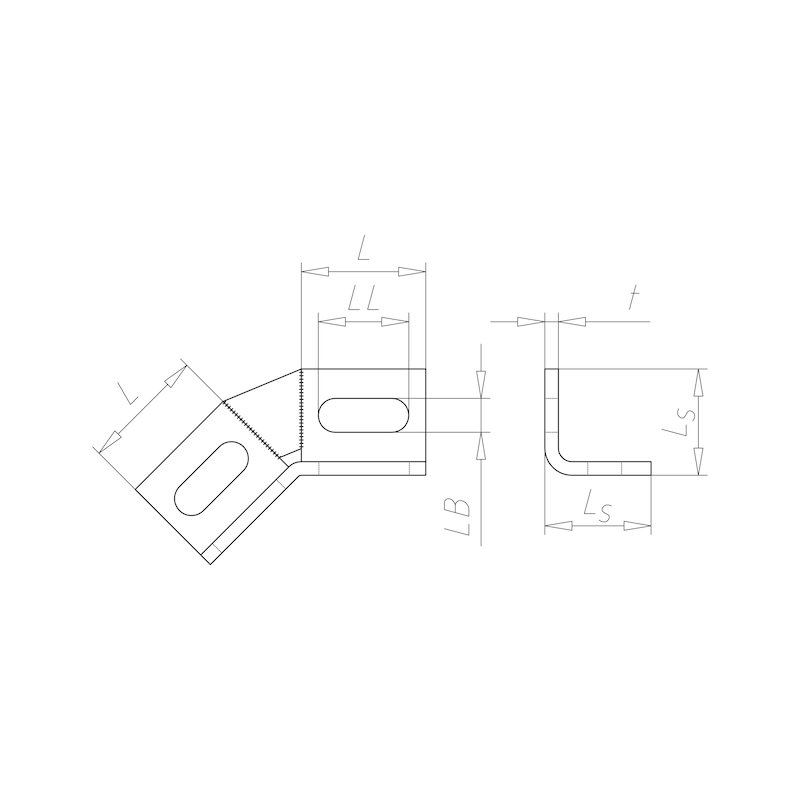 VARIFIX<SUP>®</SUP> Winkelverbinder 45° - C2C - 2