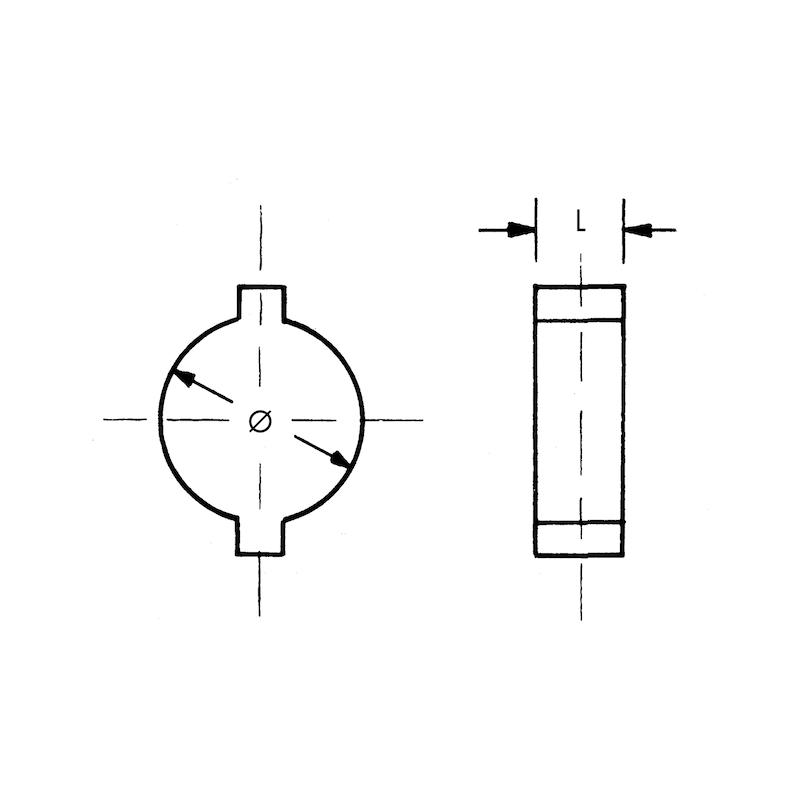 Collier de serrage à deux oreilles - 2