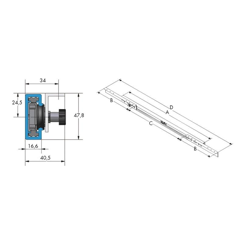 Guida per tavolo allungabile con apertura centrale | Würth