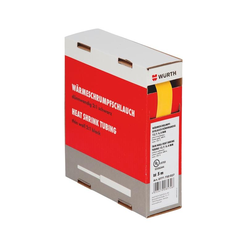 Guaina termoretraibile sottile - GUAINA-TERM-CART-GIALLA-(12,7-6,4MM)