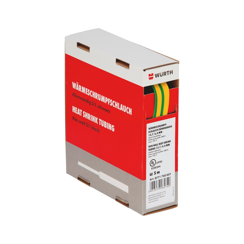 Guaina termoretraibile sottile - GUAINA-TERM-CART-GIAL/VERD-(9,5-4,8MM)