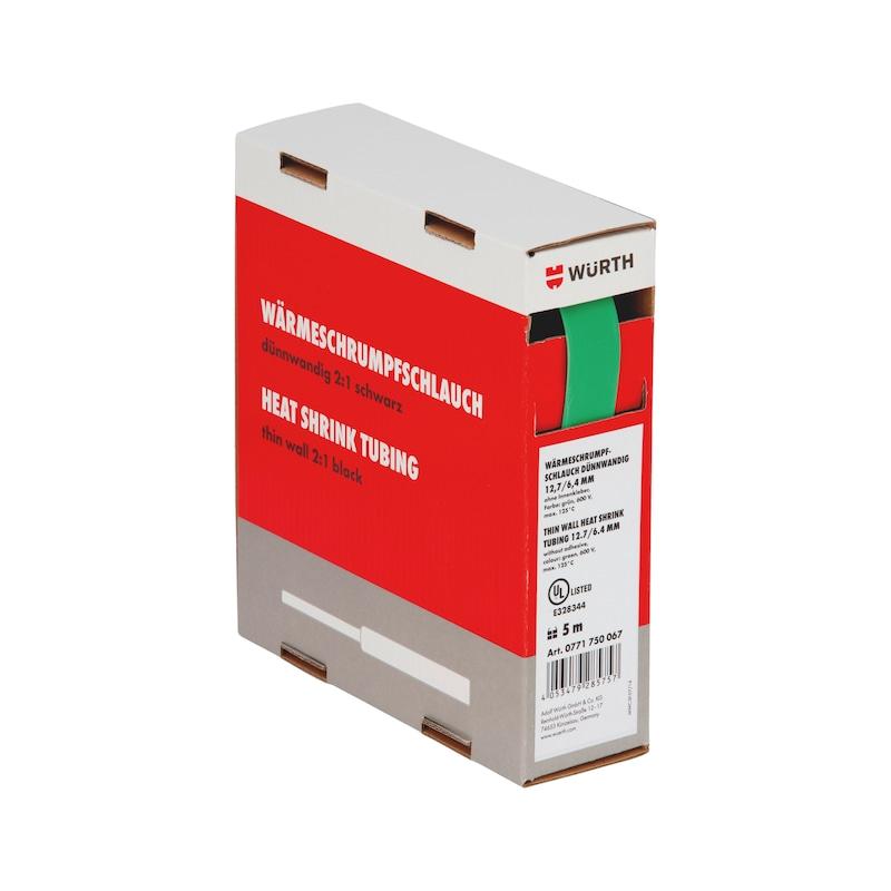Guaina termoretraibile sottile - GUAINA-TERM-CART-VERDE-(6,4-3,2MM)